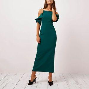 NWT ASOS River island teal maxi formal dress